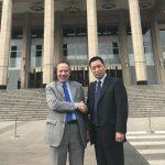 President Gian Franco Terenzi meets WUSME Ambassador in Beijing Xu Cunsong